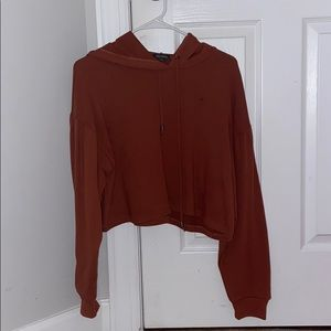 A brown sweatshirt